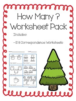 How Many? Winter Math Pack