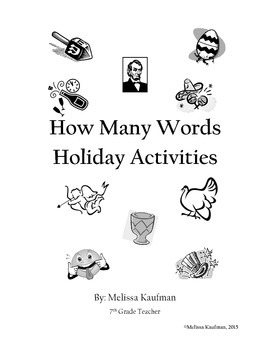 How Many Words: Holiday Word Activities