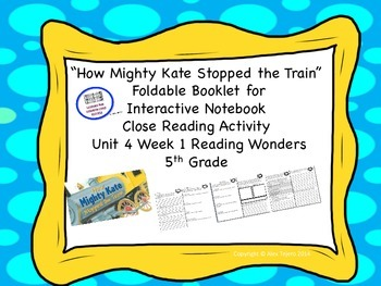 """""""How Mighty Kate Stopped the Train""""  McGraw Hills Reading"""