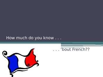 """""""How Much Do You Know About French?"""" Trivia Game"""