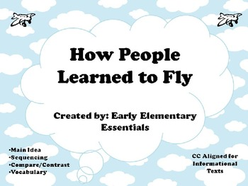 Things that Fly - Mini unit including graphic organizers a