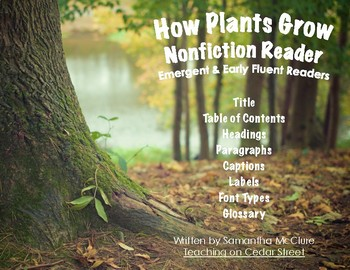 How Plants Grow & Earth Day- Nonfiction Book for Emergent