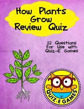 How Plants Grow Review for Third Grade Science for Use in