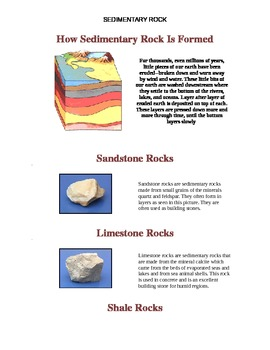 How Sedimentary Rock Is Formed Handout