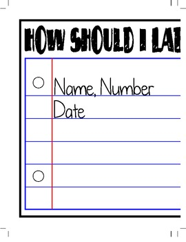 How Should I Label My Paper?  - Classroom Sign