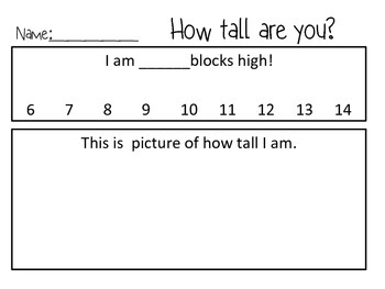 How Tall Are You? Measuring With Blocks