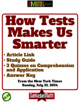 How Tests Make Us Smarter: Link, Discussion Guide, 3 Quizz