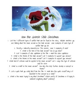 How The Grinch Stole Christmas Film + Book Test