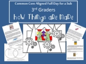 How Things Are Made/Common Core Aligned Full Day For Your Sub