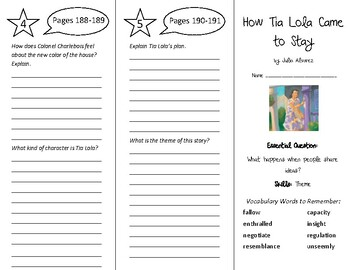 How Tia Lola Came to Stay Trifold - Wonders 6th Grade Unit