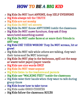How To Be A Big Kid Poster