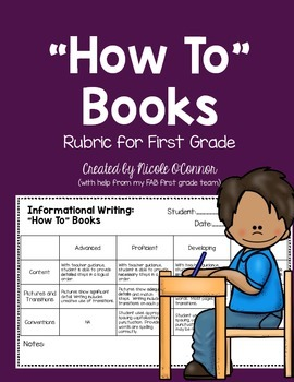 """""""How To"""" Books Rubric for First Grade"""