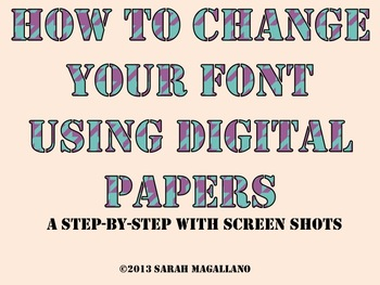 Digital Papers: How To Change Your Font Using--FREEBIE!