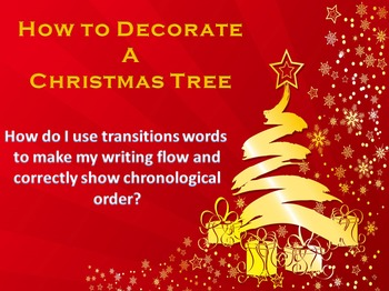 How To Decorate a Christmas Tree Writing Activity