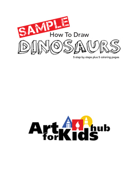 How To Draw Dinosaurs (Sample)