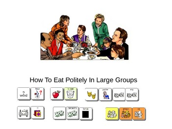 How To Eat Politely in Large Groups Social Story
