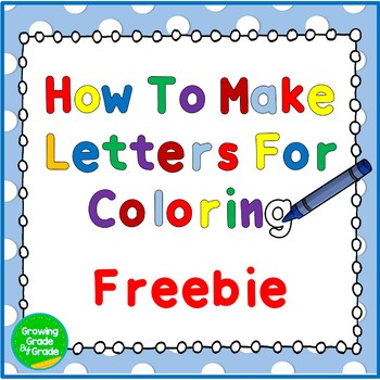 Product Covers Tutorial: How To Make Text For Coloring Freebie