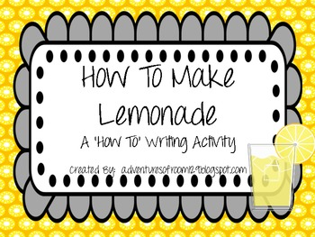 How To Make Lemonade Craftivity Writing