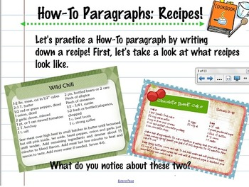 How-To Paragraph Writing