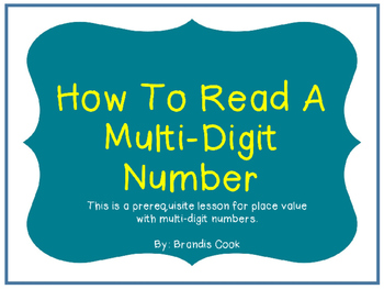 How To Read A Multi-Digit Number