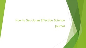 How To Set up a Science Journal