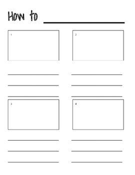 How To Writing Graphic Organizer