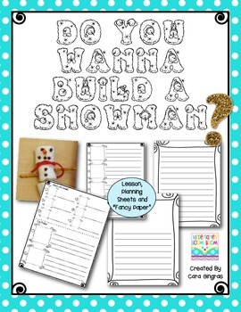How-To Writing {K/1 - Do You Wanna Build A Snowman}