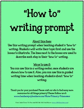 How To Writing Prompt