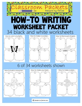 How-To Writing Worksheet Packet