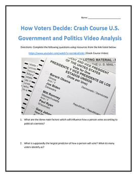 How Voters Decide: Crash Course U.S. Government and Politi