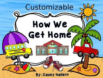How We Get Home {Customizable Beach Theme Transportation C