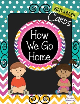 How We Go Home {Chalkboard Chevron Polka Dot}