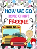 How We Go Home Chart FREEBIE {Back to School}
