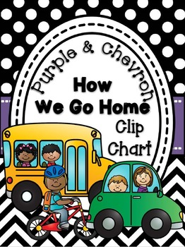 How We Go Home Clip Chart {Chevron and Purple}