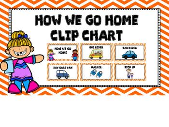 How We Go Home Clip Chart -Orange Chevron