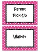 How We Go Home Clip Chart Pink Black Owls