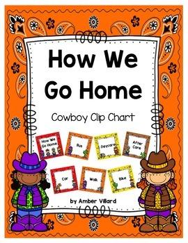 How We Go Home: Dismissal Clip Chart {Cowboy}