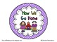 How We Go Home Dismissal Clip Chart & Student Labels {Brig