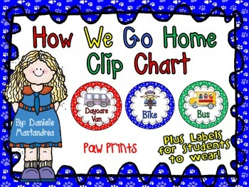 How We Go Home Dismissal Clip Chart & Student Labels {Dog