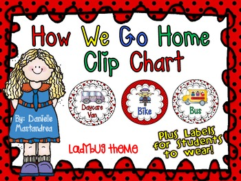 How We Go Home Dismissal Clip Chart & Student Labels {Lady