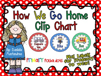 How We Go Home Dismissal Clip Chart & Student Labels {Prim