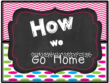 How We Go Home Display Set- Chalk&Neon