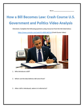 How a Bill Becomes Law: Crash Course U.S. Government and P