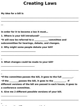 How a Bill Becomes a Law Practice
