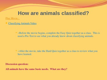 How are Animals Classified? Vertebrate/Invertibrate Intera