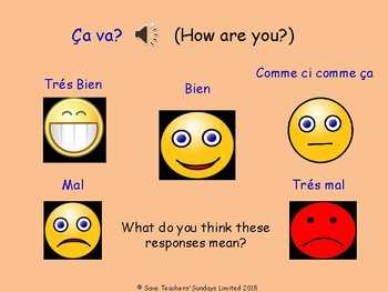 How are you? in French Lesson plan, PowerPoint (with audio