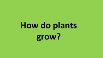 How can plants and people grow?