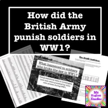 How did the British Army punish deserters in the First Wor