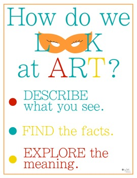 How do we look at art? Poster