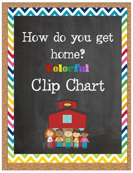 How do you get home? Colorful Clip Chart